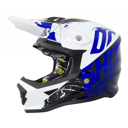 Shot Furious Kids MX Helmet - Venom Black / Blue Gloss