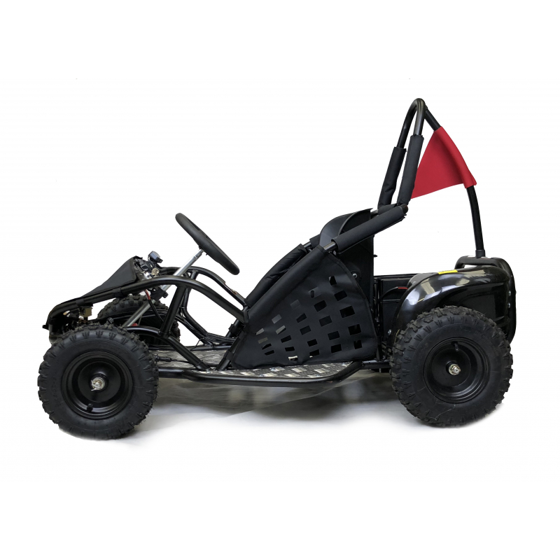 1000W Kids Electric Go Kart - Black