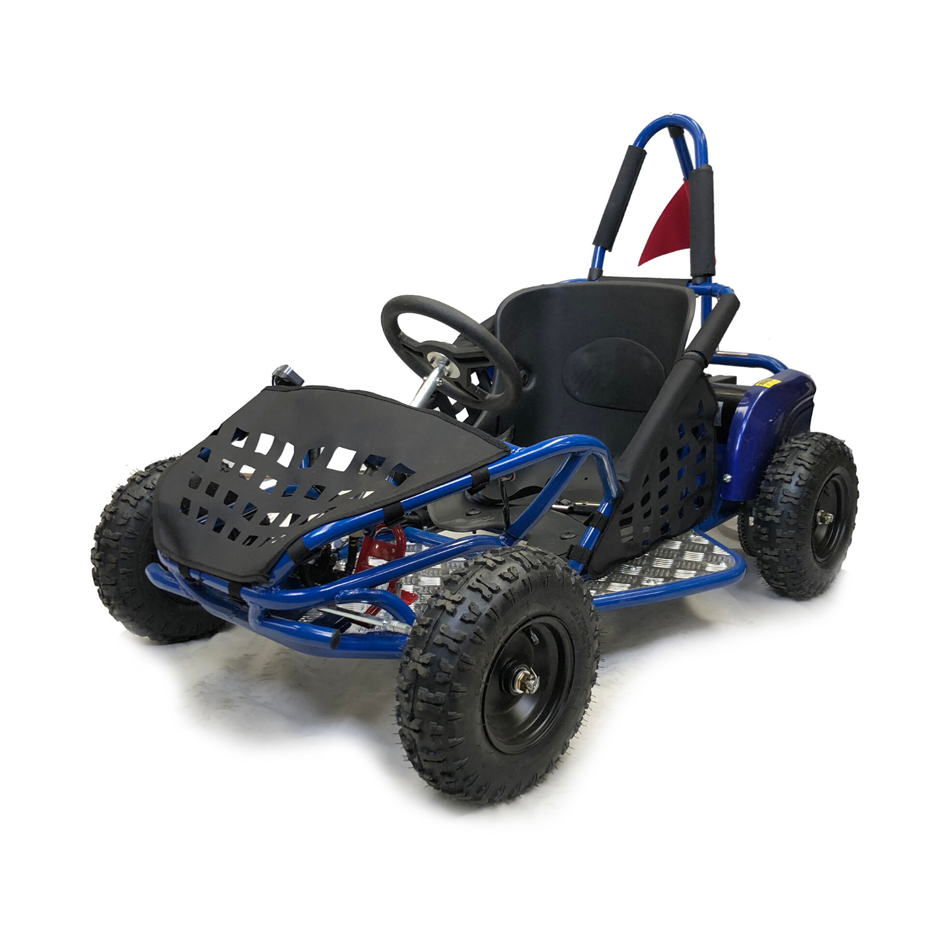 1000w Kids Electric Go Kart - Blue