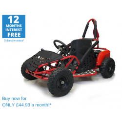1000w Kids Electric Go Kart - Red