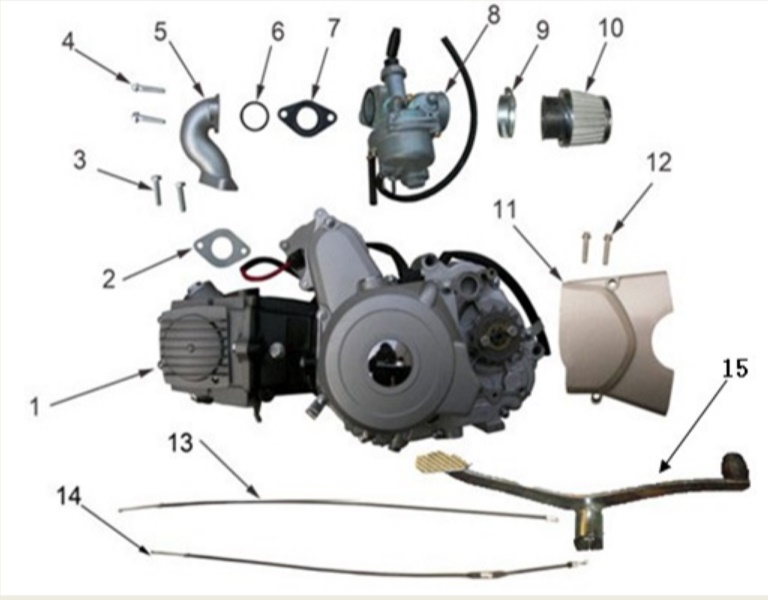 125cc Engine parts & Cables