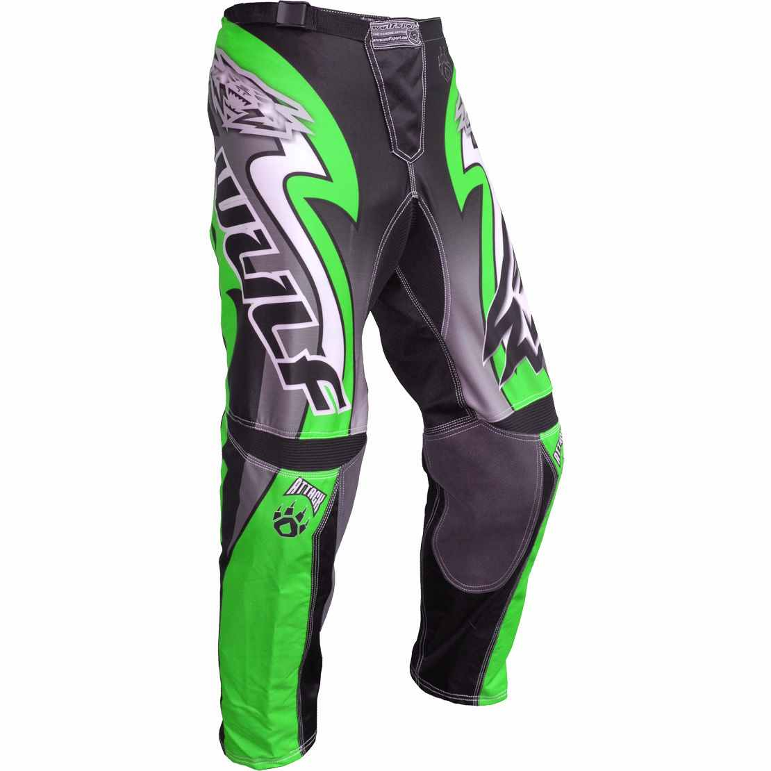 Wulfsport ATTACK Cub Race Pants - Green