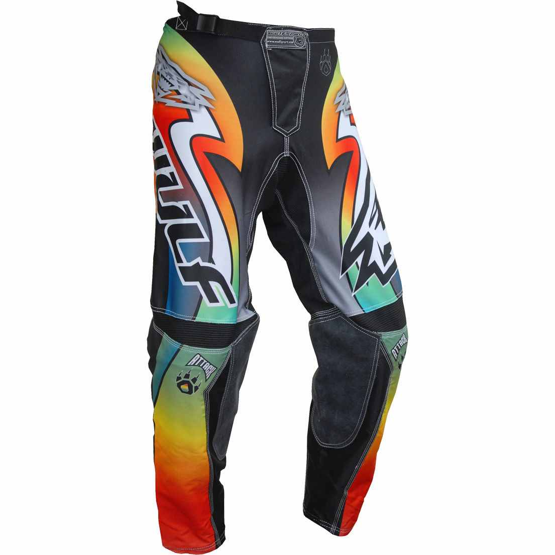 Wulfsport ATTACK Cub Race Pants - Multi Coloured