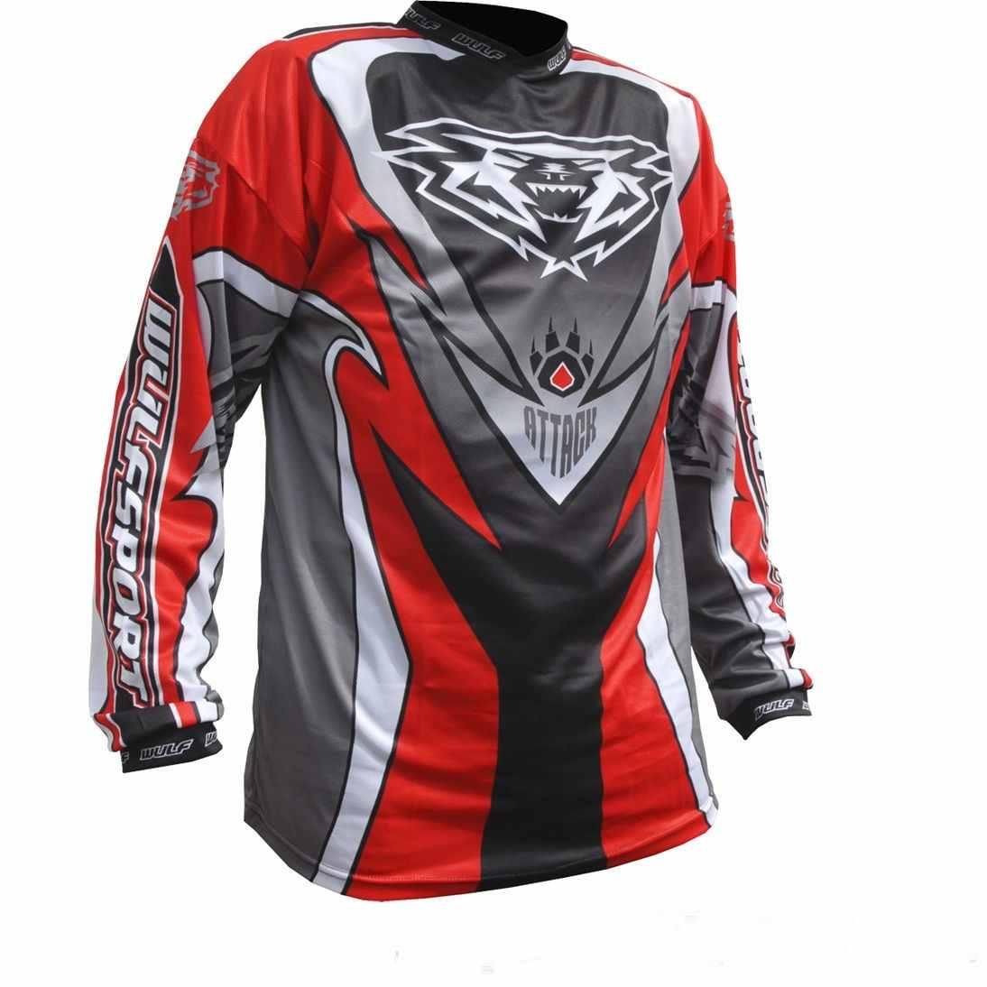 Wulfsport ATTACK Cub Race Shirt - Red