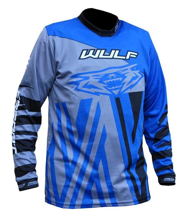 2021 Wulfsport Ventuno Kids Race Shirt - Blue / Grey
