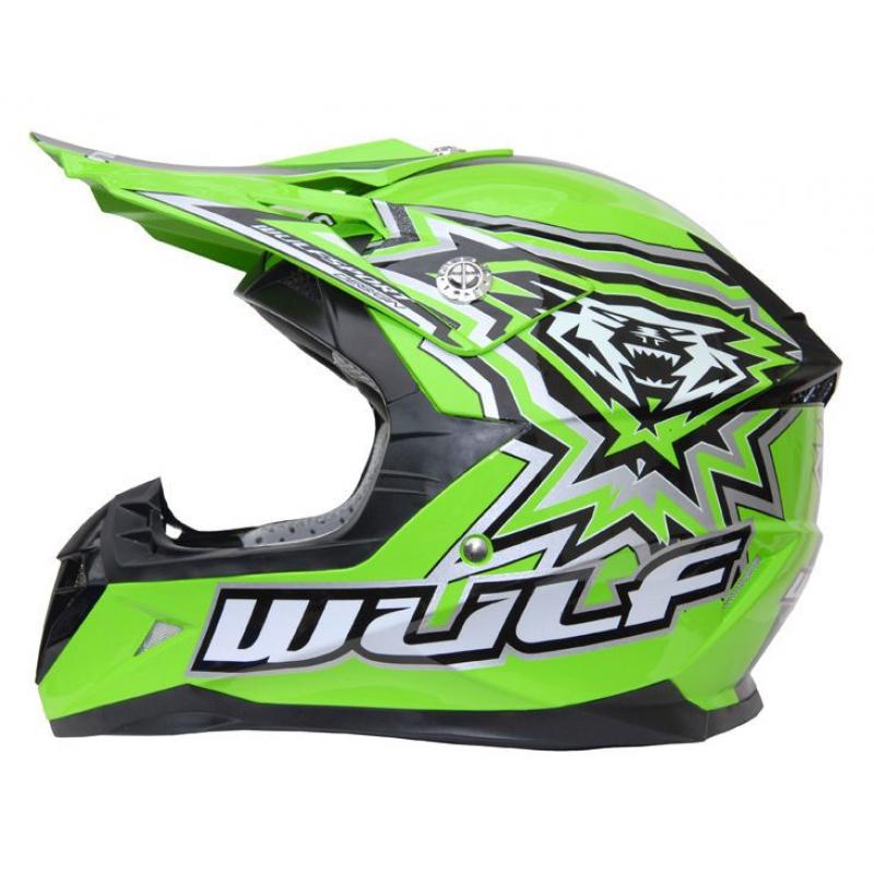 New Wulfsport Cub Flite-Xtra Helmet - Green