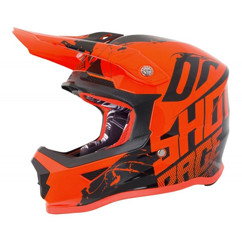 Shot Furious Kids MX Helmet - Venom Neon Orange Gloss