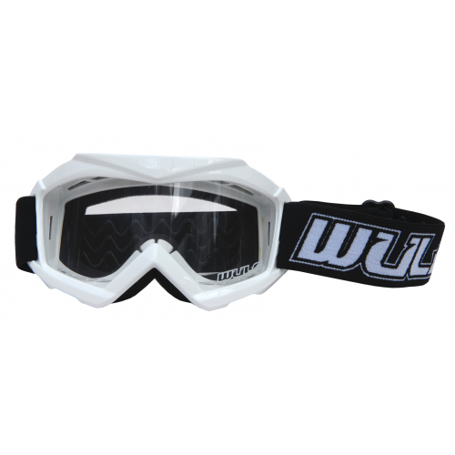 Wulfsport Cub Tech Goggles for MX Enduro - White