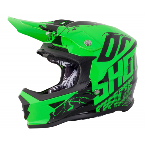 Shot Furious Kids MX Helmet - Venom Neon Green Gloss