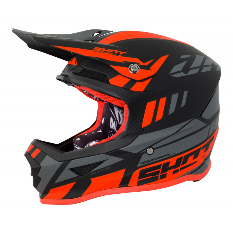 Shot Furious MX Helmet - Riot Neon Orange / Grey Matte