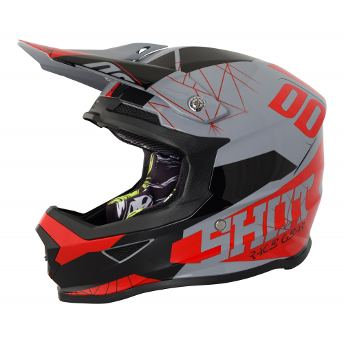 Shot Furious MX Helmet - Spectre Grey / Red Gloss