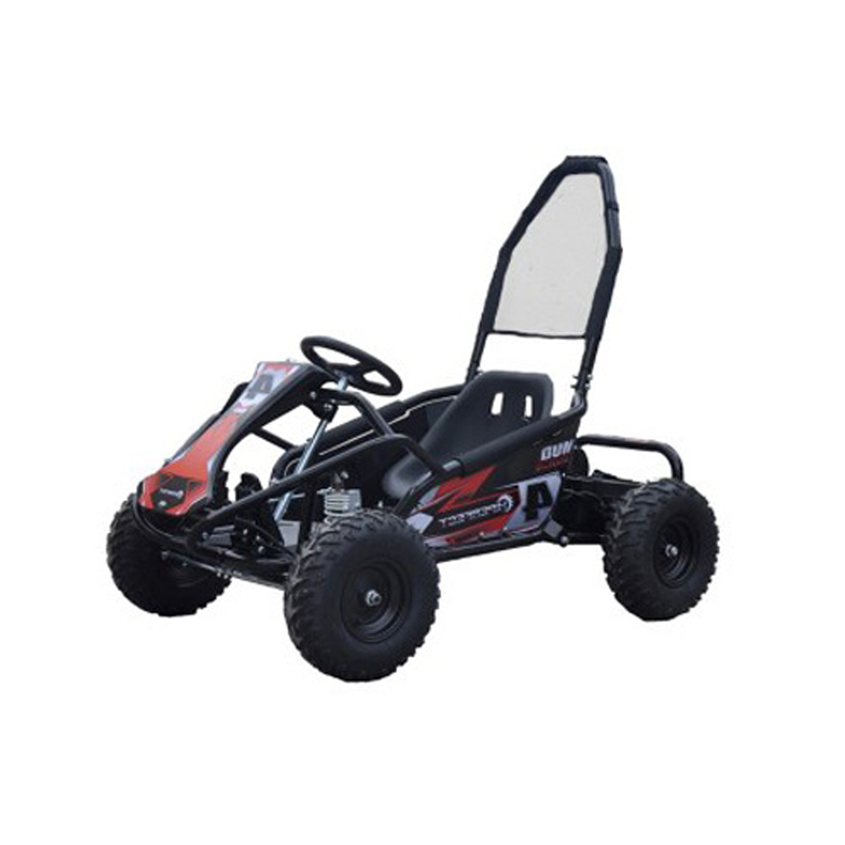 Black Mud Monster 1000w 20ah 48v Kids Electric Go Kart