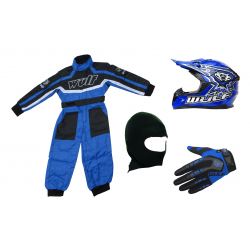 Blue Wulfsport Clothing & Helmet Discount Bundle Deal