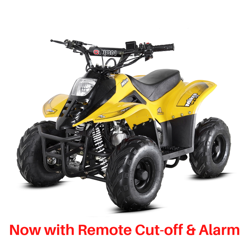 BUNDLE DEAL! 2021 VRX70 Kids Quad Bike With Remote Safety Cut Off - YELLOW