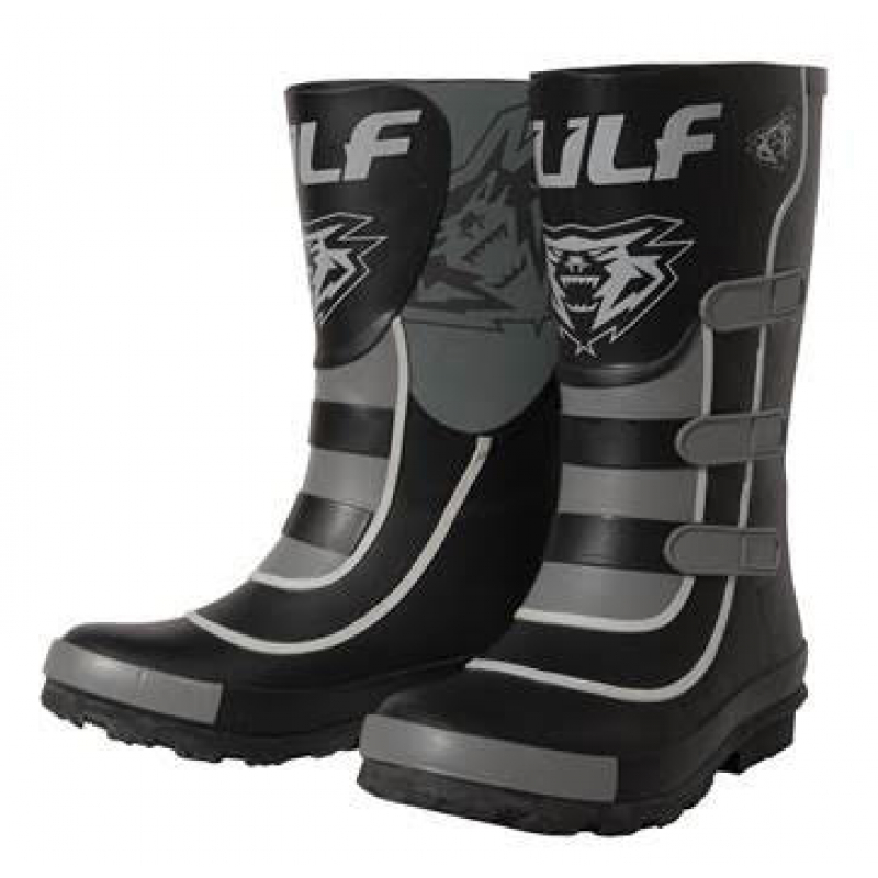 New Wulfsport Kids Mud stomper Boots - Black