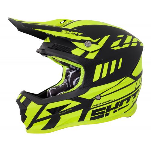 Shot Furious MX Helmet - Riot Neon Yellow / Black Matte