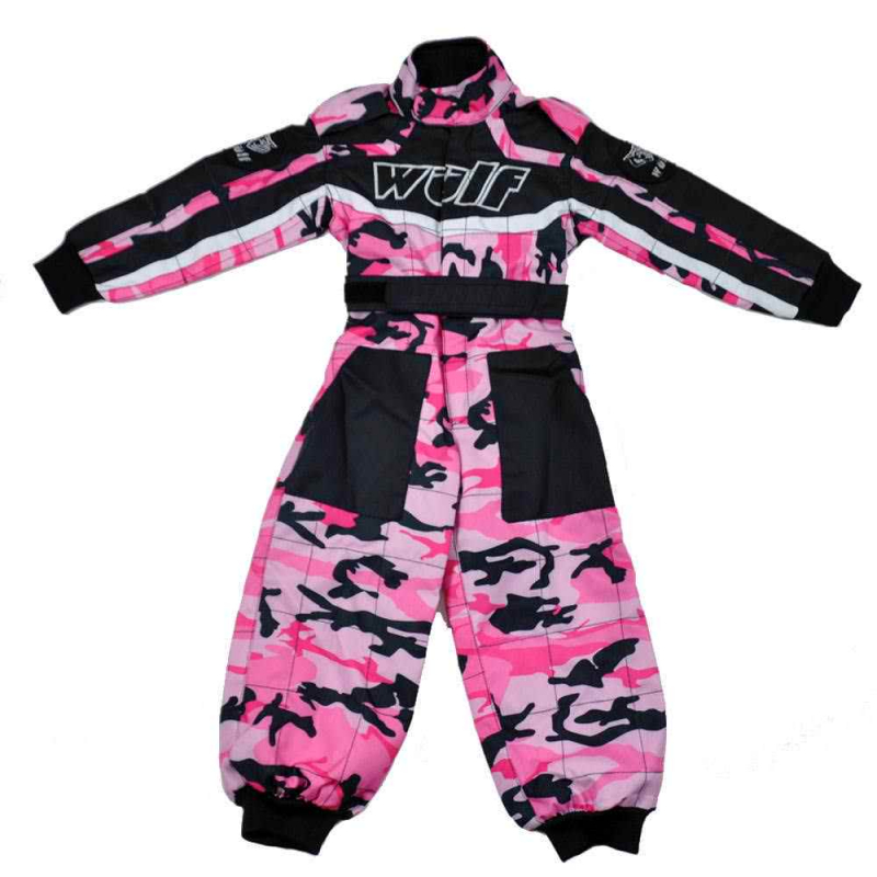Wulfsport Cub Racing Camo Suit - Pink
