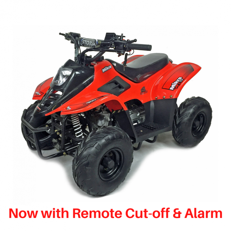 VRX70 Kids Quad Bike With Remote Safety Cut Off - RED