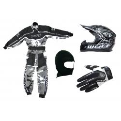 Grey Camo Wulfsport Clothing & Helmet Discount Bundle Deal