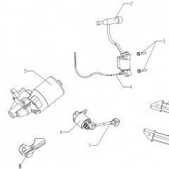 GT80 Starter Motor Parts