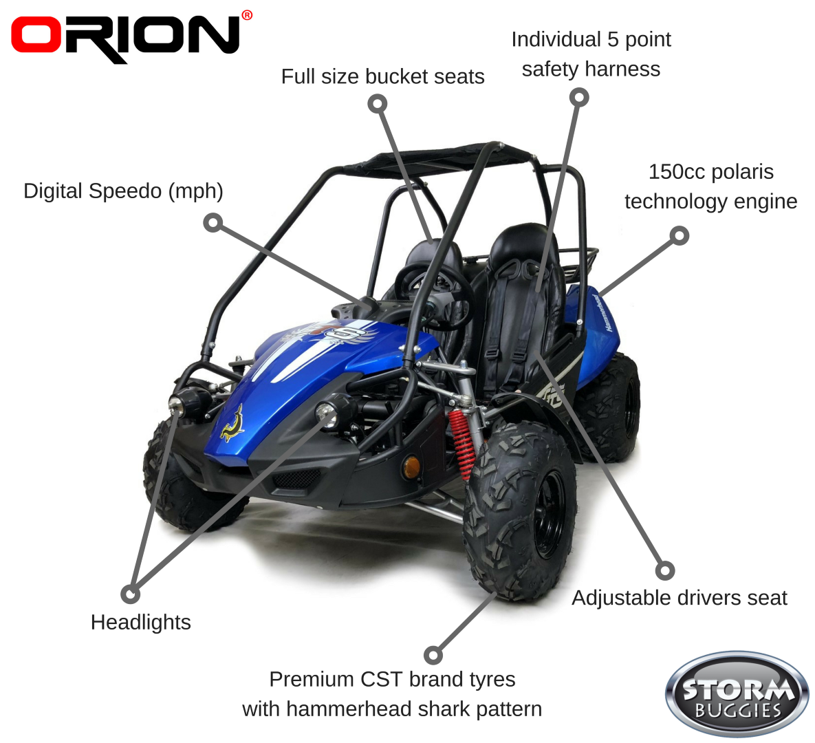 Hammerhead™ GTS150 Buggy with USA Specs - Blue on