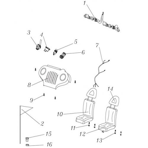 hammerhead mudhead 208 buggy key ignition switch