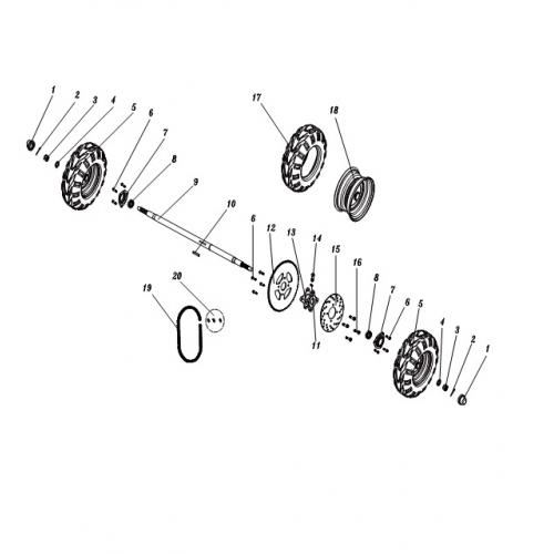 flange bolt m8x1 25x16