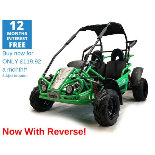 Hammerhead Mudhead™ Reverse 208R Kids Off Road Buggy - Green