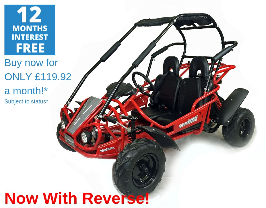 Hammerhead Mudhead™ Reverse 208R Kids Off Road Buggy - Red