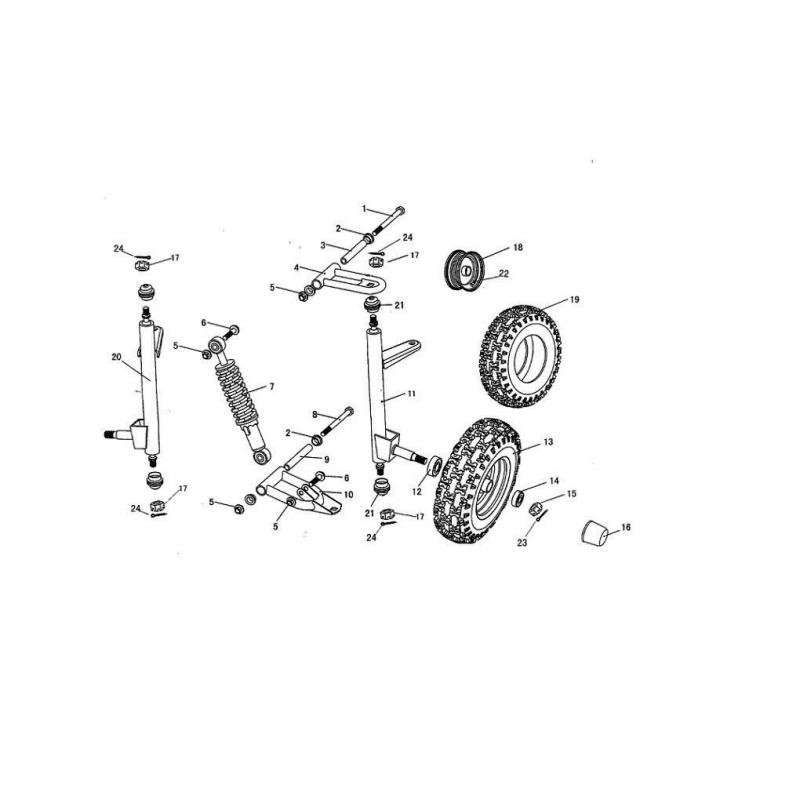 hammerhead torpedo front wheel rim