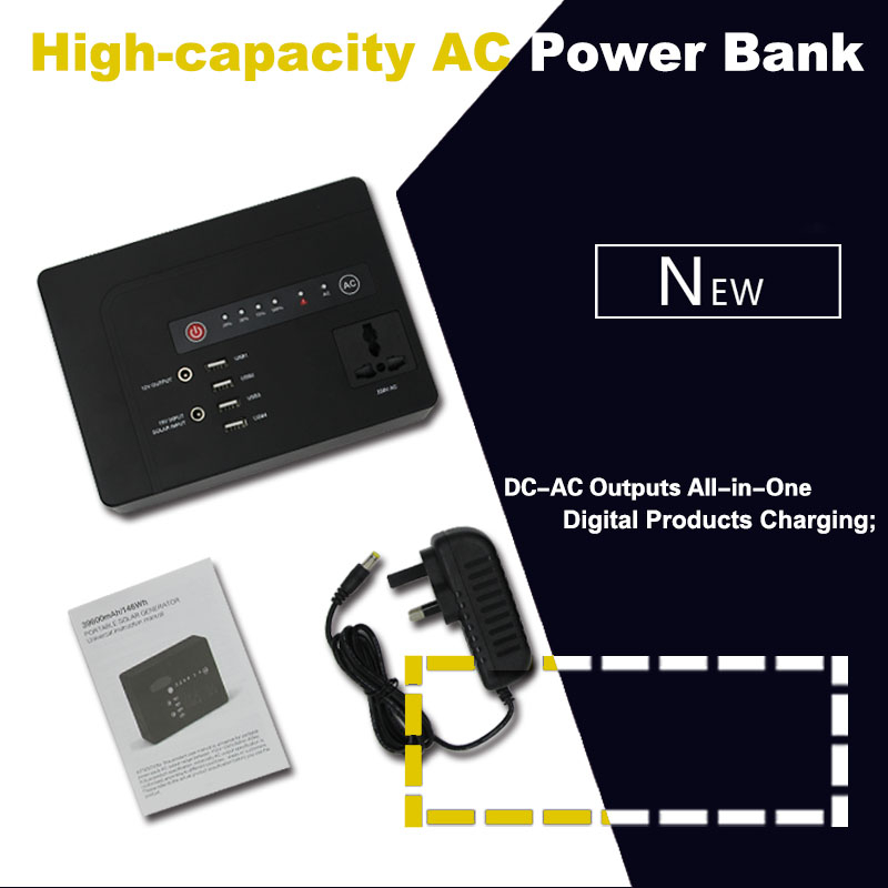 High Capacity Portable AC Power-Bank With USB & AC Power Output
