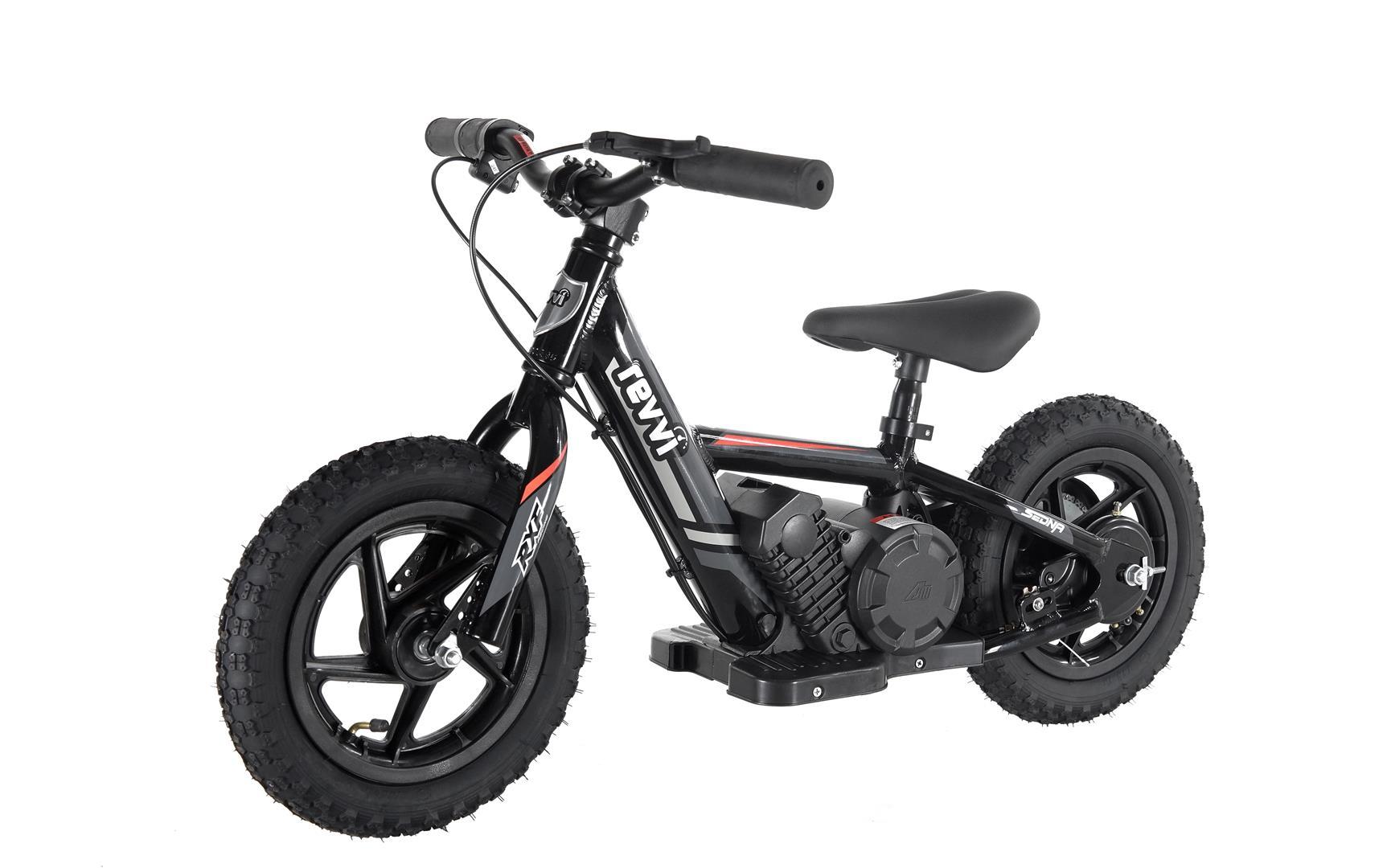 Kids 100w Electric Balance Bike - Revvi Twelve - Black
