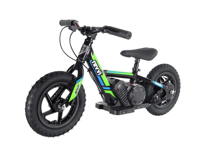 Kids 100w Electric Balance Bike - Revvi Twelve - Green
