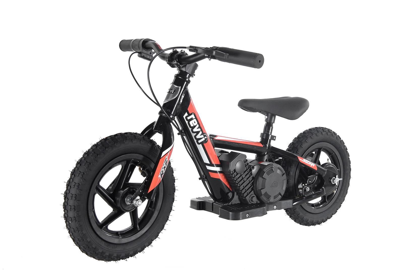 Kids 100w Electric Balance Bike - Revvi Twelve - Orange