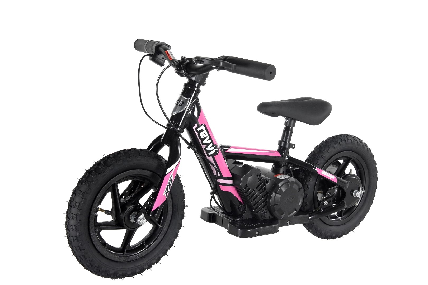 Kids 100w Electric Balance Bike - Revvi Twelve - Pink