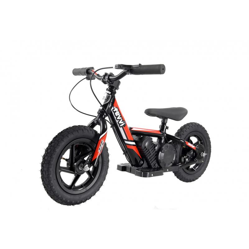 Kids 100w Electric Balance Bike - Revvi Twelve - Red
