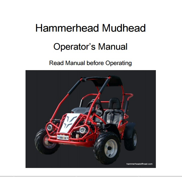 Mudhead Buggy Owners Manual