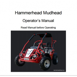 Mudhead Buggy Owners Manual