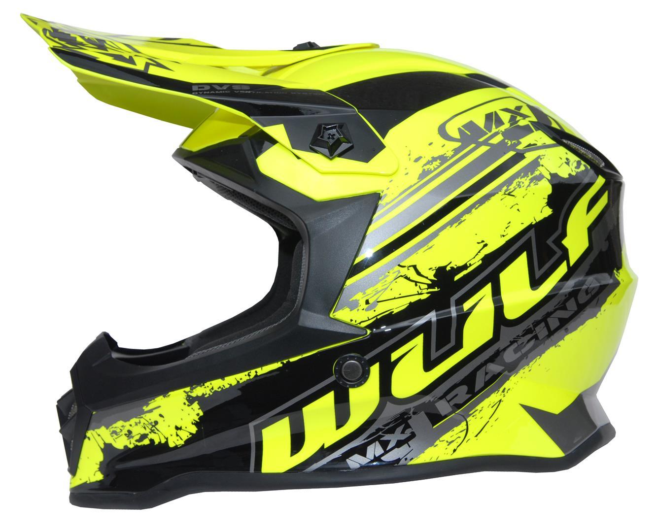 New 2021 Wulfsport Kids Off Road Pro Helmet - Yellow