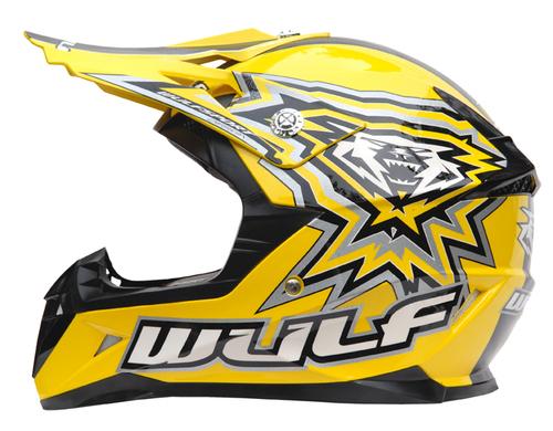 New Wulfsport Cub Flite-Xtra Helmet - Yellow