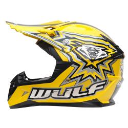 New Wulfsport Cub Flite-Xtra Helmet - Yellow - Clearance Sale!