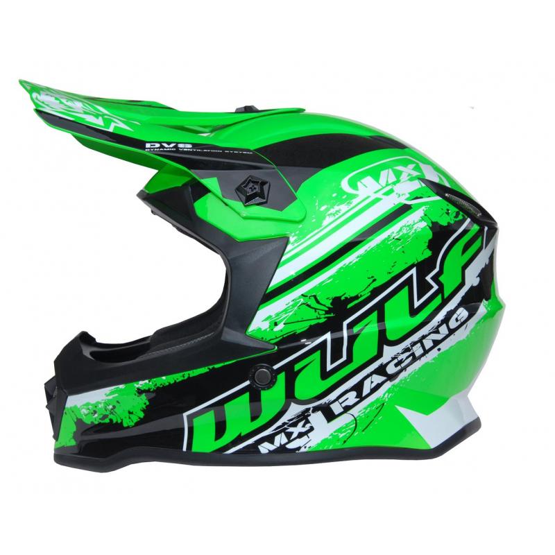 New 2021 Wulfsport Kids Off Road Pro Helmet - Green