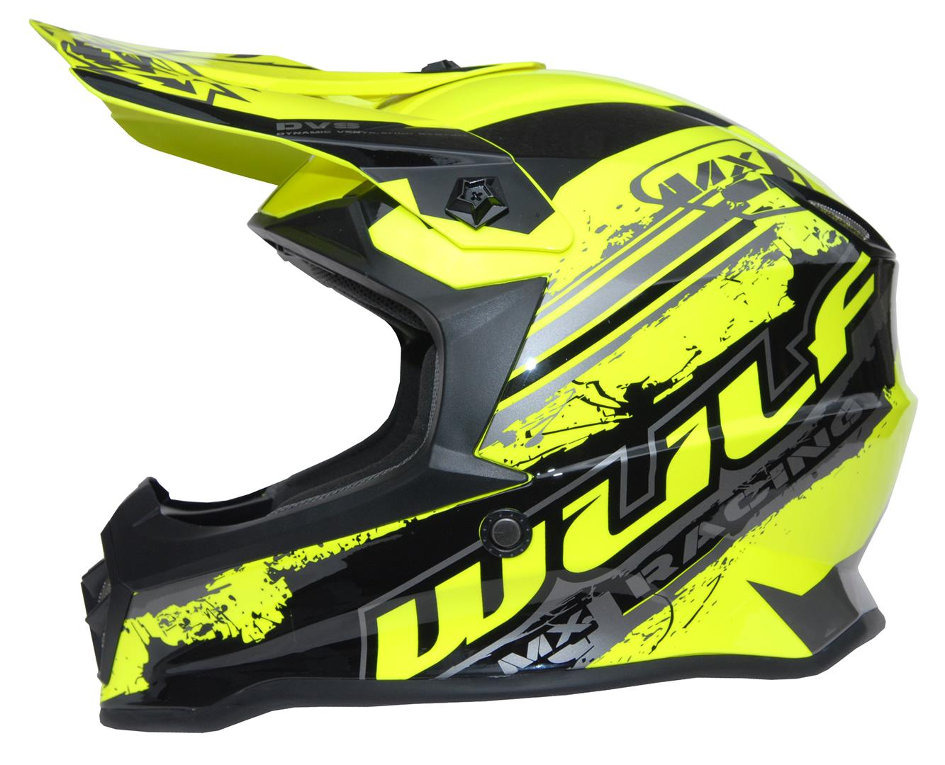 New 2020 Wulfsport Kids Off Road Pro Helmet - Yellow