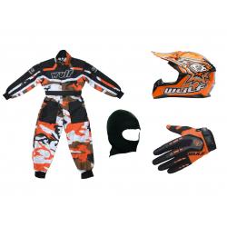 Orange Camo Wulfsport Clothing & Helmet Discount Bundle Deal