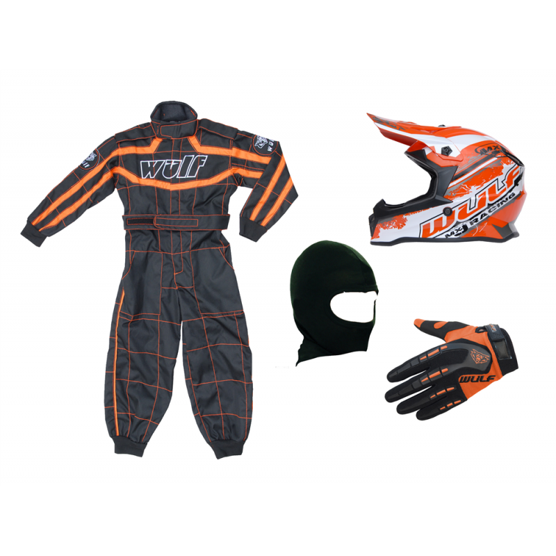 Orange Wulfsport Clothing & Helmet Discount Bundle Deal