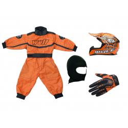 Orange Wulfsport Clothing & Helmet Discount Bundle Deal