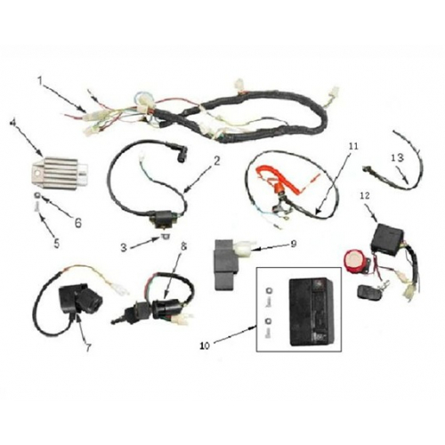 Orion 110cc Wiring Harness Loom Wiring Diagram