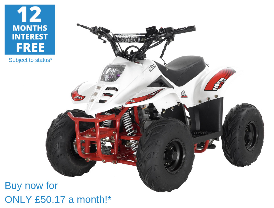 2020 VRX70 Kids Quad Bike With Remote Safety Cut Off - WHITE