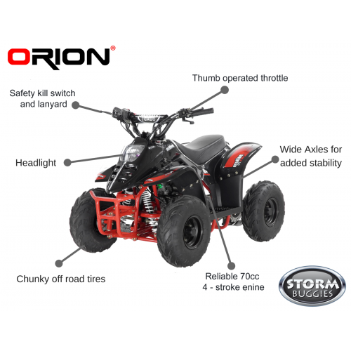 ORION MIKRO 70cc KIDS QUAD - BLACK