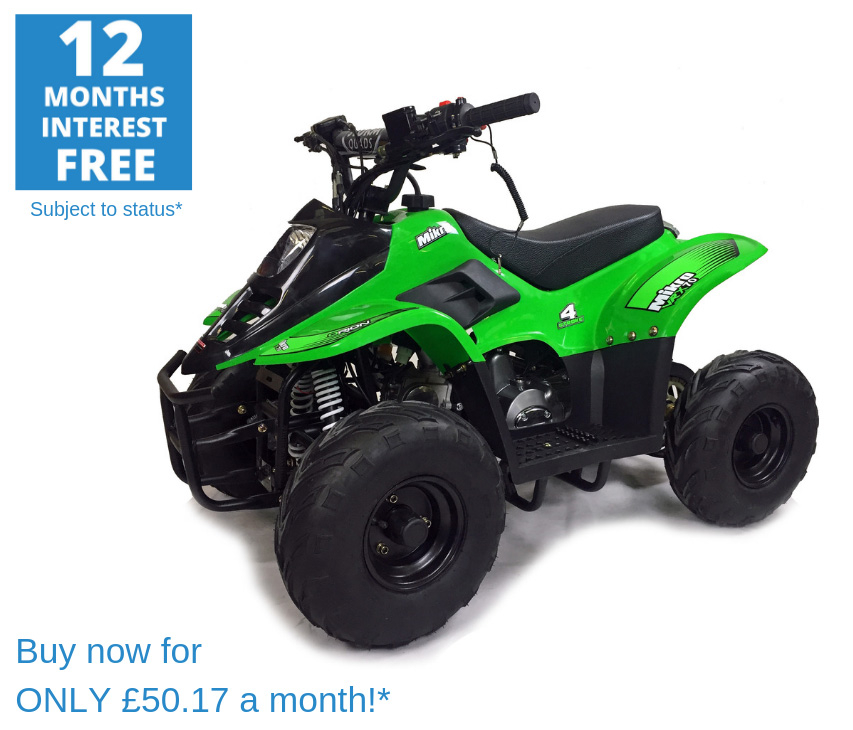 2020 VRX70 Kids Quad Bike With Remote Safety Cut Off - GREEN
